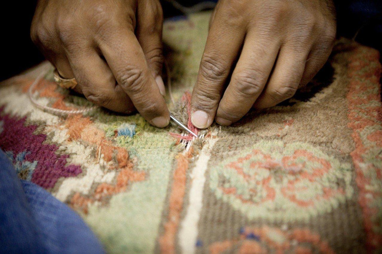 Nettoyage et restauration de tapis anciens