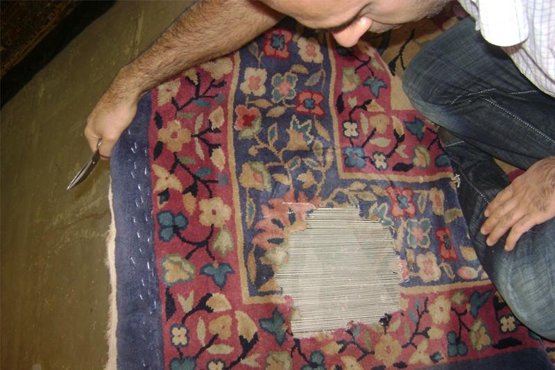 Reconstitution des chaines et trames du tapis