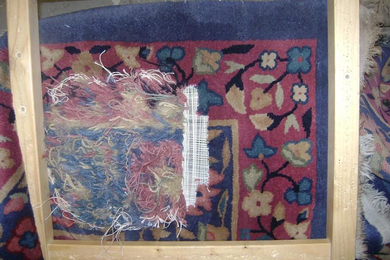 Plan large du tapis presque rénové